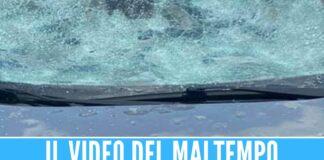 Grandinate e tromba d'aria al Nord, parabrezza distrutti in autostrada