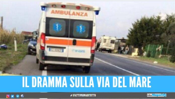 Tragico incidente sulla Domitiana