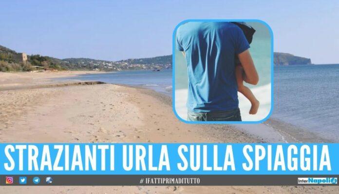 Incidente in spiaggia a Palinuro, bimbo si amputa il dito con la sdraio