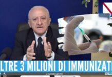 Morti covid in Campania, De Luca Il 99% non era vaccinato