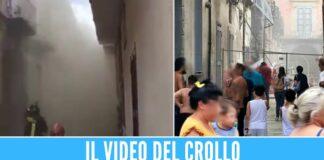 Paura tra la polvere nel Casertano, crolla il palazzo nel centro cittadino