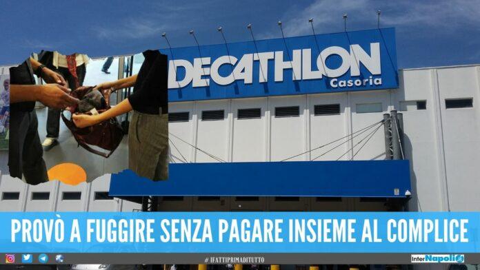 Rubò vestiti al Decathlon di Casoria, sorpresa alle casse dopo il trucco del camerino
