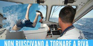 Si tuffano nel mare mosso di Mondragone, 3 minorenni salvati dalle onde