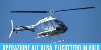 Tentano gli omicidi di 3 ragazzi, 8 arresti nel blitz sul Litorale Domizio elicottero polizia