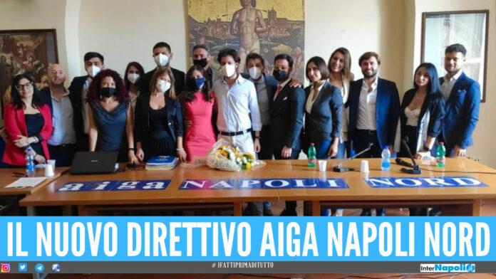 Il nuovo direttivo dell'Aiga Napoli Nord