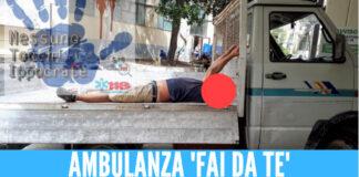 ambulanza 'fai da te' a Napoli