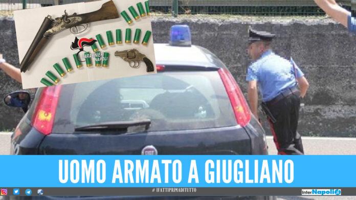 Paura a Giugliano, uomo armato nei '40 alloggi': fermato in tempo dai carabinieri