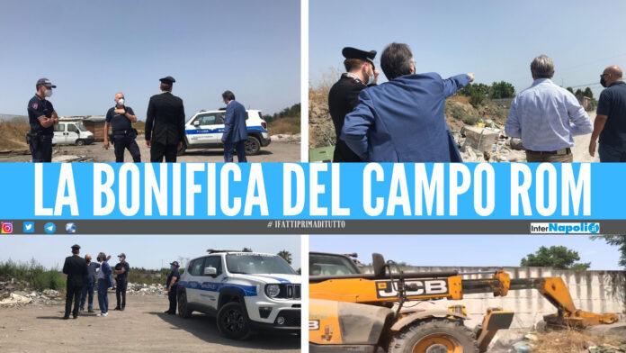 Bonifica del campo rom