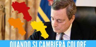 decreto emergenza draghi presidente del consiglio zona gialla arancione rossa