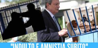 """https://internapoli.it/indulto-e-amnistia-subito-cosi-i-detenuti-hanno-accolto-draghi/ """"Draghi, Draghi!"""", """"fuori, fuori!"""", """"indulto, indulto!"""": con queste acclamazioni i detenuti del carcere di Santa Maria Capua Vetere hanno accolto Draghi"""