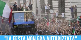 """""""Il corteo col bus non era autorizzato"""", il prefetto di Roma bacchetta la Nazionale"""