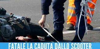incidente moto morto
