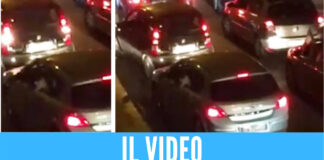 Screen video spari nel traffico Frattamaggiore - Francesco Emilio Borrelli