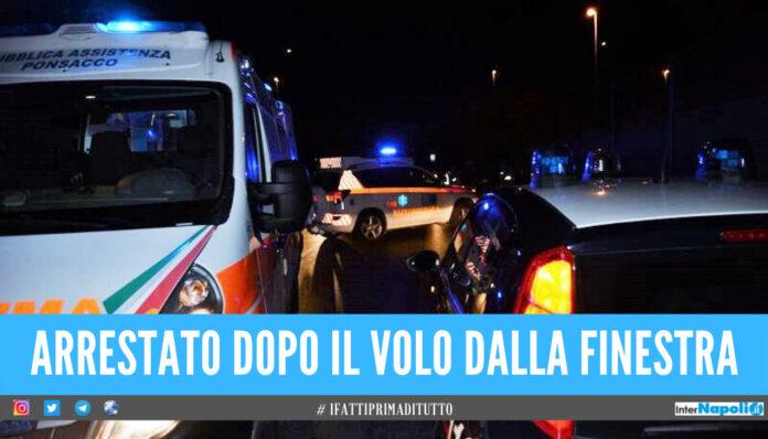 Tenta furto in una casa in provincia di Napoli, lo scoprono e si lancia dalla finestra: ladro in ospedale