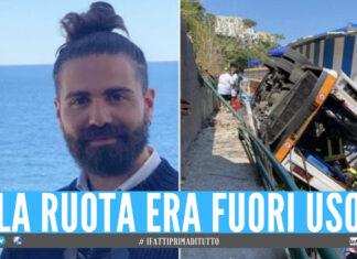 Emanuele Melillo e il bus precipitato a Capri