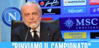 Aurelio De Laurentiis ed Enrico Preziosi sulla ripartenza della Serie A.