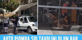 Auto piomba a tutta velocità sui tavolini di un bar in Spagna, a Marbella