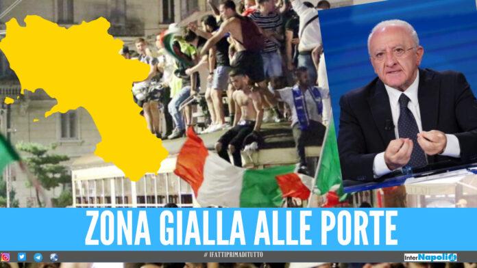 Festeggiamenti Italia, rischio zona gialla a fine luglio: la Campania tra le Regioni più attenzionate