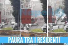 Colonna di fumo su Corso Italia a Marano