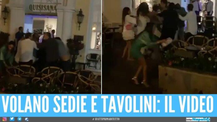 Botte da orbi davanti al famoso albergo di Capri, rissa tra 2 comitive