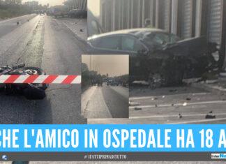 Incidente mortale a Giugliano, la vittima ha 18 anni: corsa in ospedale per l'amico