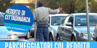Parcheggiatori abusi col reddito di cittadinanza a Napoli, raffica di denunce e controlli