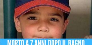 Bimbo di 7 anni muore dopo aver fatto il bagno, ha contratto un'infezione fatale