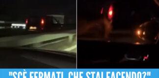 Follia sull'Asse Mediano, auto contromano semina il panico [Video]