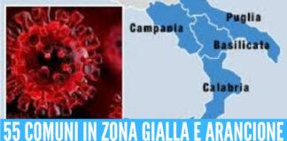 Covid, tornano le restrizioni nel Sud Italia: 55 Comuni in zona gialla e arancione