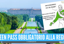 Reggia di Caserta, dal 6 agosto sarà obbligatorio il Green pass per accedere