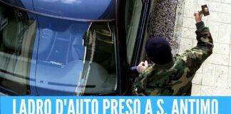 Follia a Sant'Antimo, scoperto mentre ruba un'auto minaccia il proprietario e picchia i carabinieri