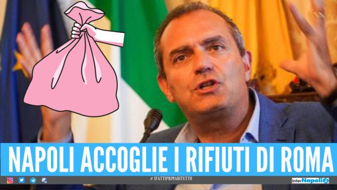 Napoli accoglie i rifiuti di Roma, De Magistris: