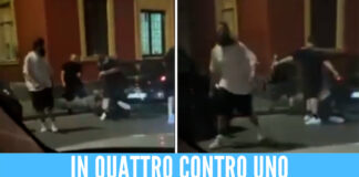 Frame video del pestaggio a Napoli