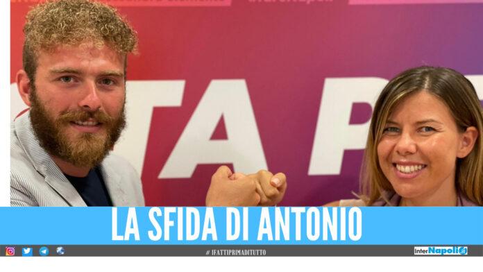 Antonoi Piccirillo con Alessandra Clemente