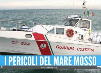 Paura sul lido a Bacoli, salvate 6 persone a bordo del gommone