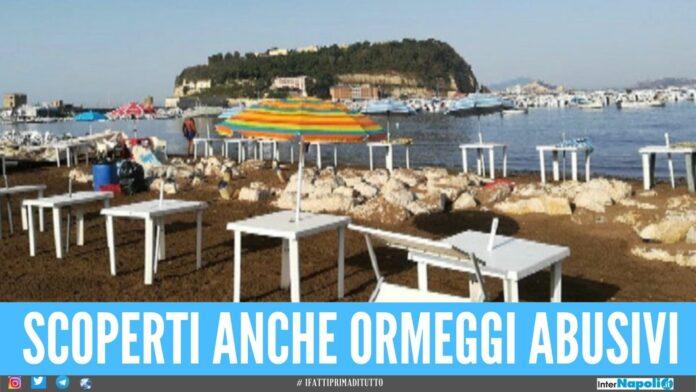 Sequestrato lido abusivo a Napoli, docce a pagamento con acqua rubata