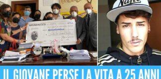 Stefano ucciso dal sarcoma, famiglia dona i soldi all'ospedale Pascale