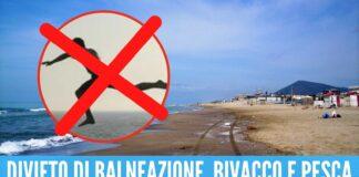 Tuffi in mare vietati a Mondragone, spiagge chiuse dal 14 al 16 agosto