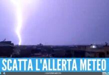 campania maltempo fulmini allerta meteo