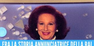 Lutto nel mondo della televisione, è morta la regina delle 'Signorine Buonasera' Nicoletta Orsomando
