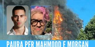 Brucia ancora il palazzo La Torre del Moro a Milano, tra gli abitanti del grattacielo c'è anche Mahmood: di fronte abita Morgan