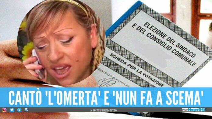 Cantante neomelodica si candidata al Comune di Napoli, Tina Sacco Sono Masaniello