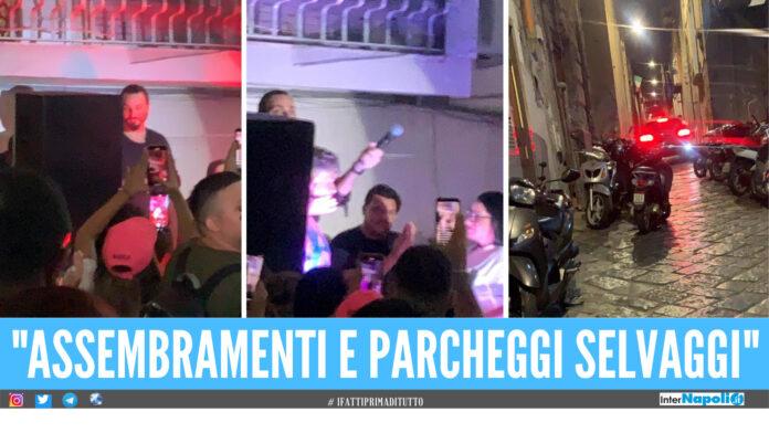 Tony Colombo ieri sera a Forcella. Fonte foto: Francesco Emilio Borrelli