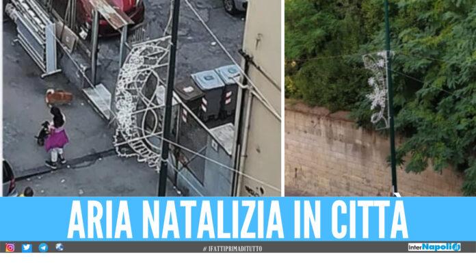 Luminarie di Natale installate a Napoli