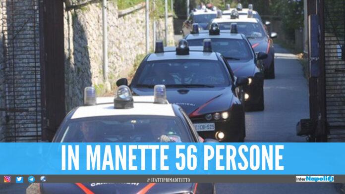 Droga dalla provincia di Napoli a Salerno, 56 arresti dopo il blitz dei carabinieri