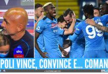 Luciano Spalletti a sx, gli azzurri festeggiano il goal sulla dx