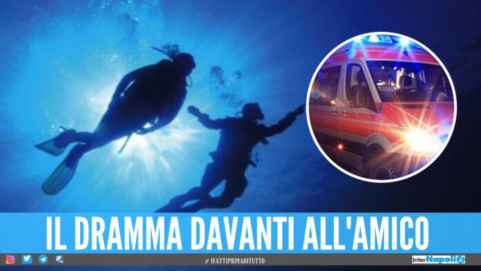 Tragedia nella notte a Castel Volturno, sub muore durante la battuta di pesca con l'amico