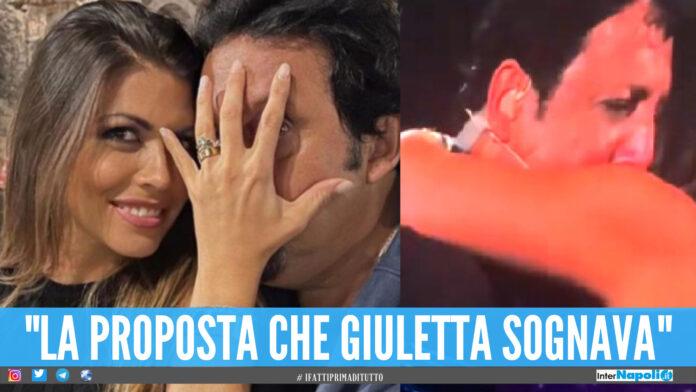 Enrico Brignano fa impazzire 'L'Arena', proposta di matrimonio live all'ex Uomini e Donne