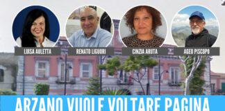Arzano, 4 candidati a sindaco per dimenticare lo scioglimento per camorra: sfida tra Aruta, Auletta, Piscopo e Liguori