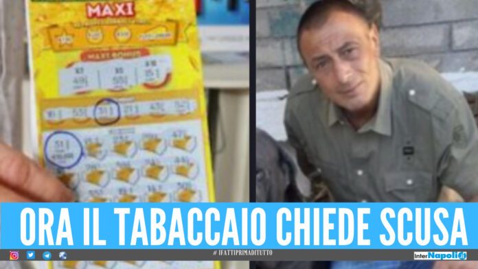 Il tabaccaio chiede scusa